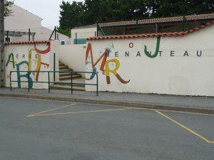 mur Ecole publique Pierre Menanteau